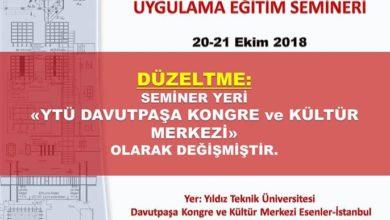 Photo of Türkiye Bina Deprem Yönetmeliği (2018) Genel Konular Uygulama Eğitim Semineri