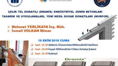 """Photo of """"Çelik Tel Donatılı Endüstriyel Zemin Betonları Tasarım ve Uygulamaları, Yeni Nesil Duvar Donatıları Semineri – Antalya"""